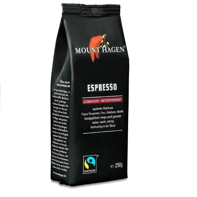 Βιολογικός καφές εσπρέσσο χωρίς καφεΐνη 250g, Mount Hagen