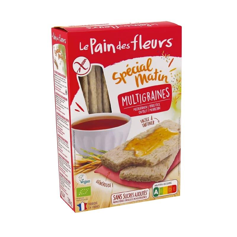 Βιολογικά κράκερς πολύσπορου για πρωινό 230g, Le Pain des fleurs