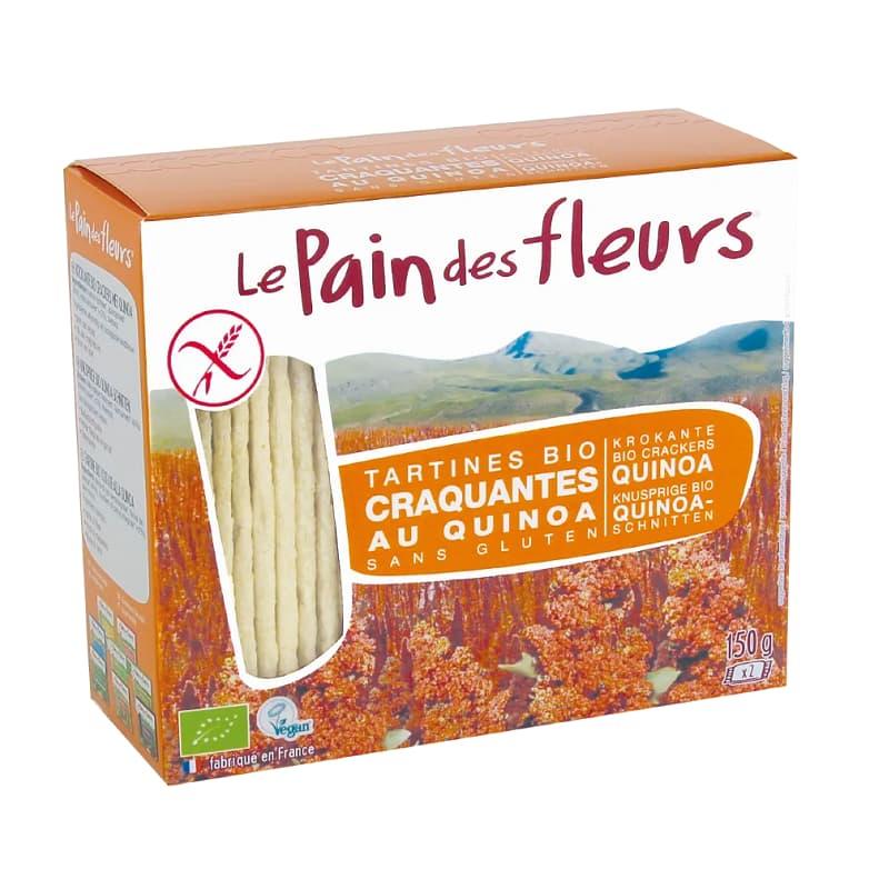 Βιολογικά κράκερς κινόα 150g, Le Pain des fleurs