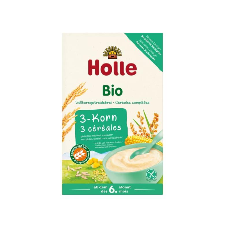 Βιολογική βρεφική κρέμα ρύζι, καλαμπόκι & κεχρί 250g, Holle