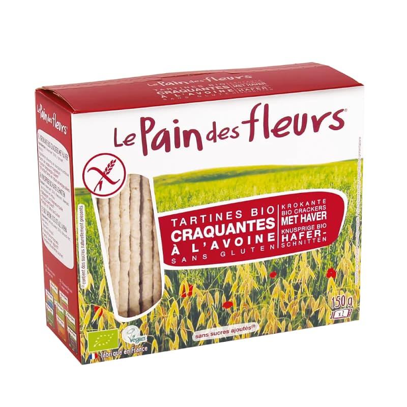 Βιολογικά κράκερς βρώμης 150g, Le Pain des fleurs