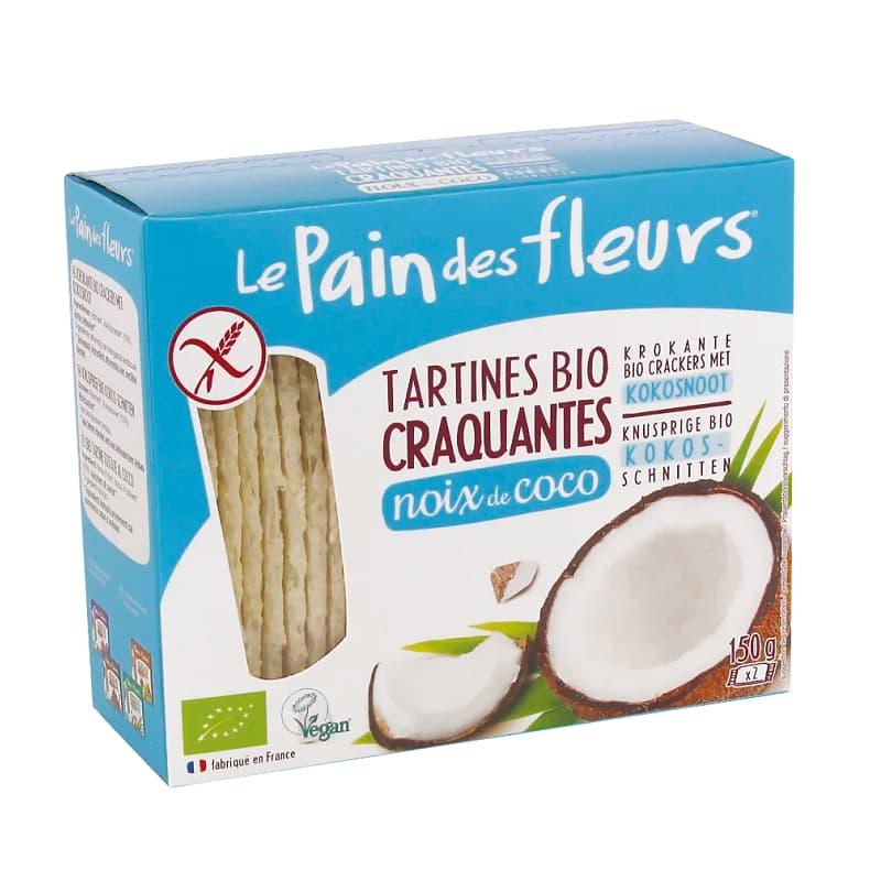 Βιολογικά κράκερς καρύδας 150g, Le Pain des fleurs