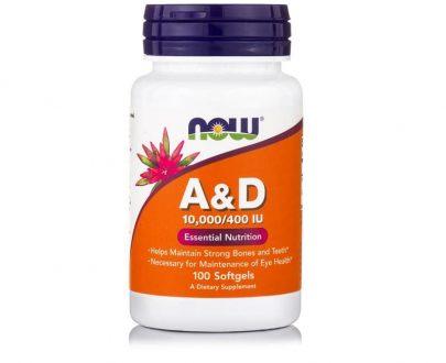 Βιταμίνη A & D (10,000 IU A 400 IU D-3) 100 Softgels
