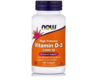 Βιταμίνη D-3 (1.000 IU), 180 Softgels