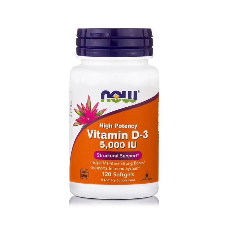 Βιταμίνη D-3 (5.000 IU), 120 Softgels