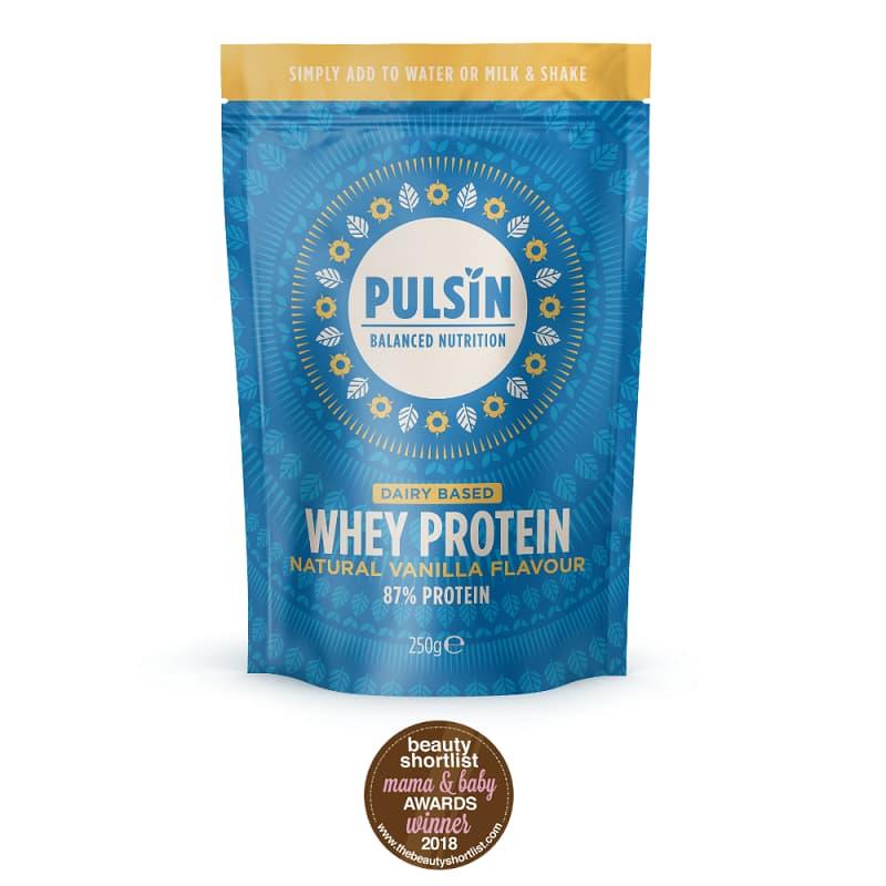 Πρωτεΐνη ορού γάλακτος βανίλια 250g, Pulsin