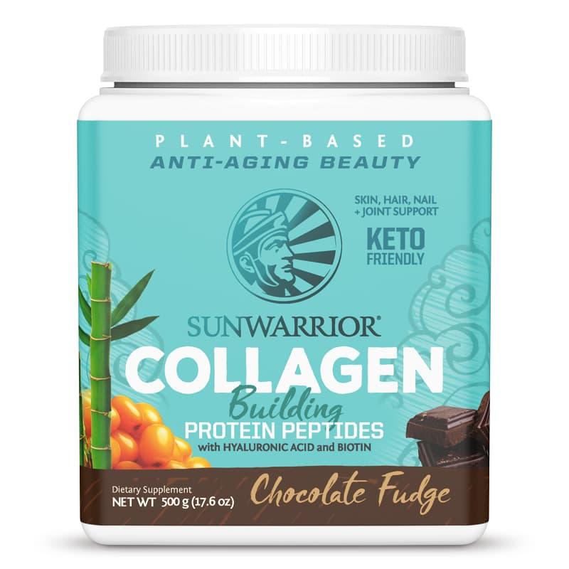 Βιολογική πρωτεΐνη με σοκολάτα & πεπτίδια για παραγωγή κολλαγόνου 500g, Sunwarrior