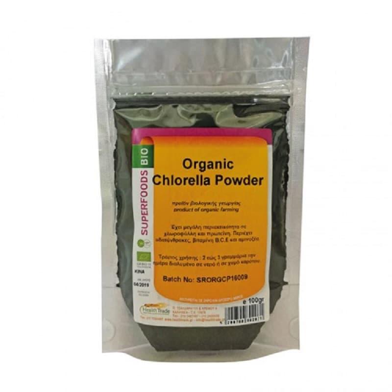 Βιολογική Χλωρέλλα σε σκόνη 100g, Health Trade