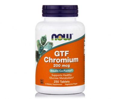 GTF Chromium 200mcg, 250 tablets