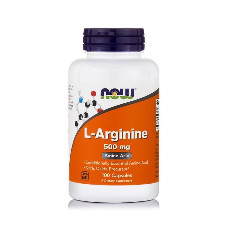 L-Arginine 500mg, 100 caps