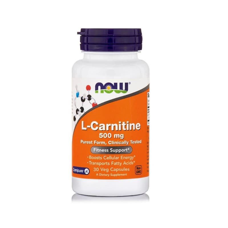 L-Carnitine 500mg, 30 Vcaps
