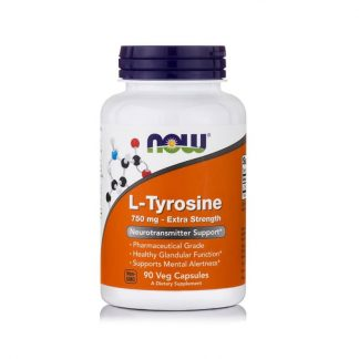 L-Tyrosine 750mg, Extra Strength, 90 Vcaps