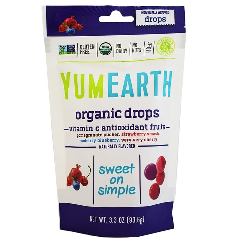 Βιολογικές καραμέλες φρούτων με Βιταμίνη C 93.6g, YumEarth