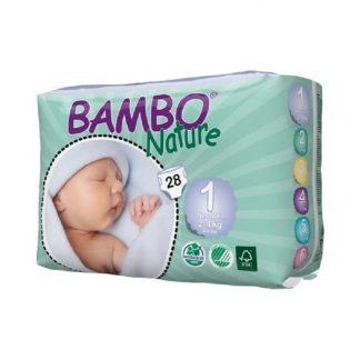 Πάνες Νο 1 Newborn 2-4 κιλά 28 τεμάχια, Bambo Nature