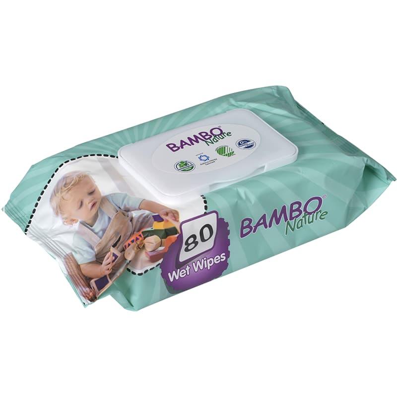 Παιδικά υγρά μαντηλάκια 80 τεμάχια, Bambo Nature