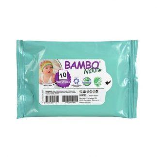 Παιδικά υγρά μαντηλάκια τσέπης 10 τεμάχια, Bambo Nature