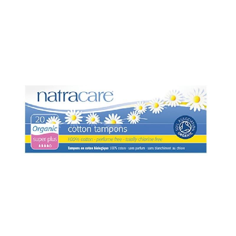 Βιολογικά ταμπόν χωρίς εφαρμοστή (εξτρά απορροφητικότητα) 20τμχ, natracare