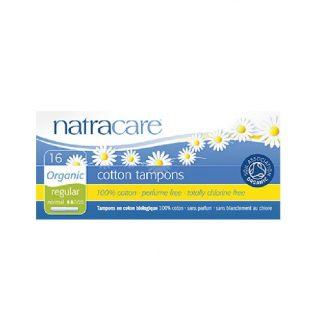 Βιολογικά ταμπόν με εφαρμοστή (κανονική ροή) 16τμχ, natracare