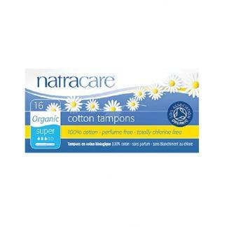 Βιολογικά ταμπόν με εφαρμοστή (μεγάλη ροή) 16τμχ, natracare