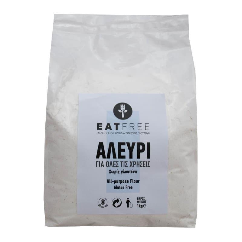 Eat Free Αλεύρι για όλες τις χρήσεις 1kg, Βιοαγρός