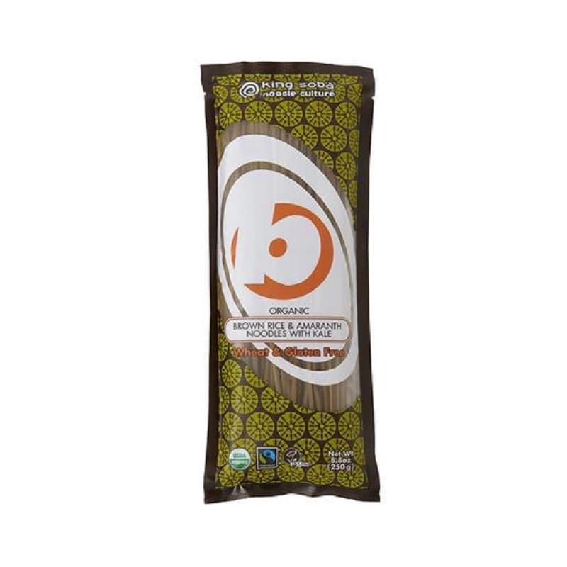 Βιολογικά νουντλς από καστανό ρύζι, αμάρανθο και κέιλ 250g, King Soba