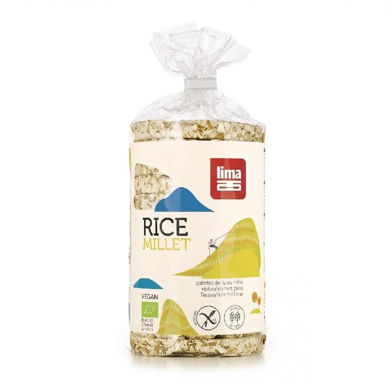 Βιολογική ρυζογκοφρέτα με κεχρί 100g, lima