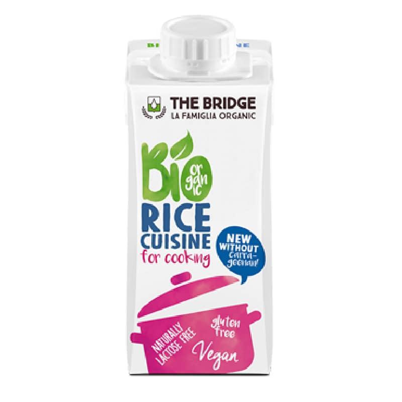 Βιολογικής κρέμα μαγειρικής ρύζι 200ml, The Bridge