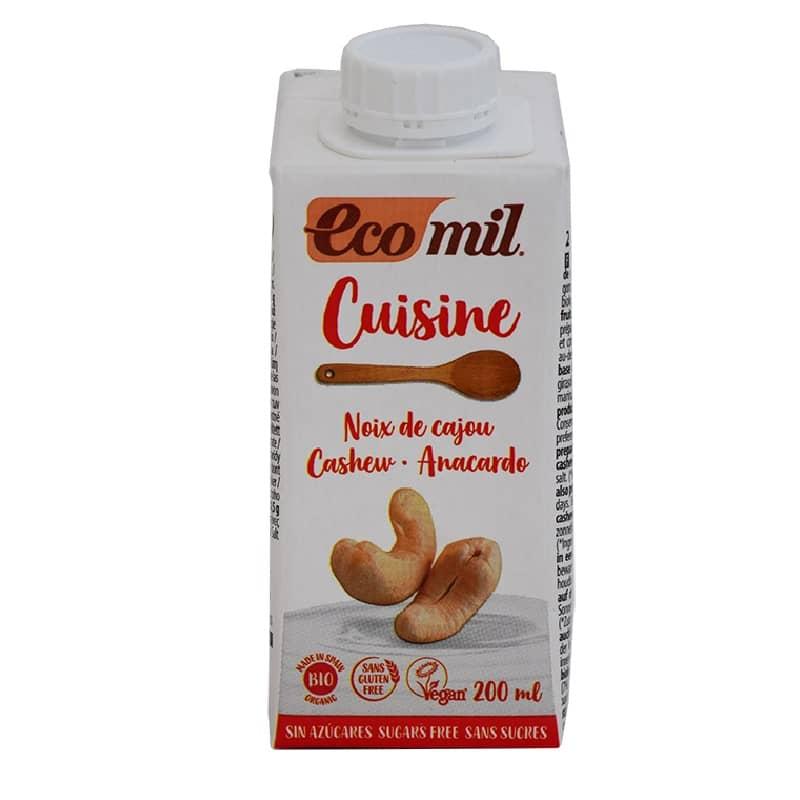 Βιολογική κρέμα μαγειρικής κάσιους 200ml, Ecomil