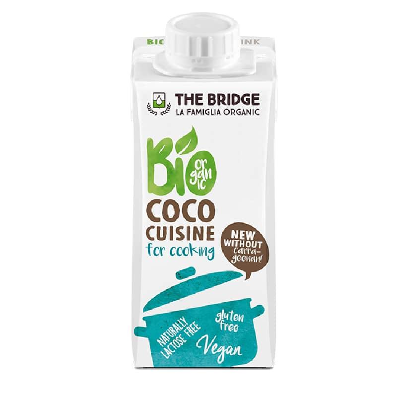 Βιολογική κρέμα μαγειρικής καρύδας 200ml, The Bridge