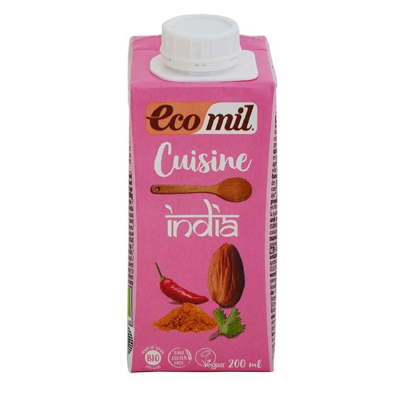 Βιολογική κρέμα μαγειρικής india 200ml, Ecomil