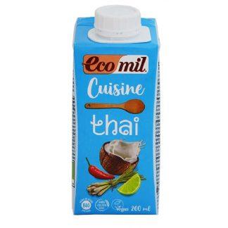 Βιολογική κρέμα μαγειρικής thai 200ml, Ecomil