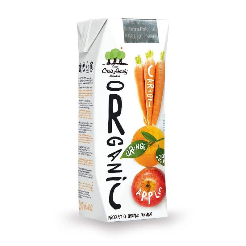 Βιολογικός χυμός μήλο, πορτοκάλι & καρότο 250ml, Χριστοδούλου