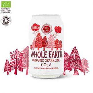 Βιολογικό ανθρακούχο ποτό Κόλα 330ml, Whole Earth