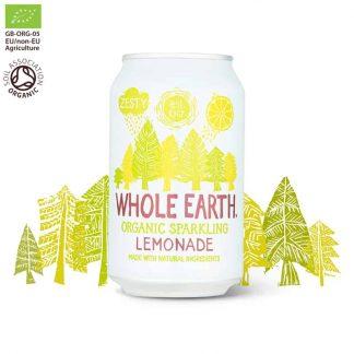 Βιολογικό ανθρακούχο ποτό Λεμόνι 330ml, Whole Earth