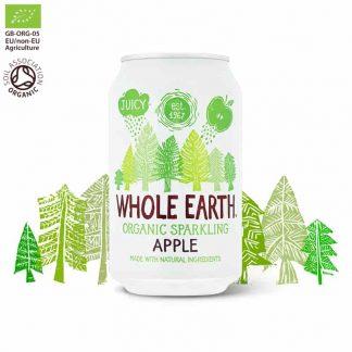 Βιολογικό ανθρακούχο ποτό Μήλο 330ml, Whole Earth