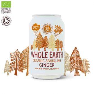 Βιολογικό ανθρακούχο ποτό Τζίντζερ 330ml, Whole Earth
