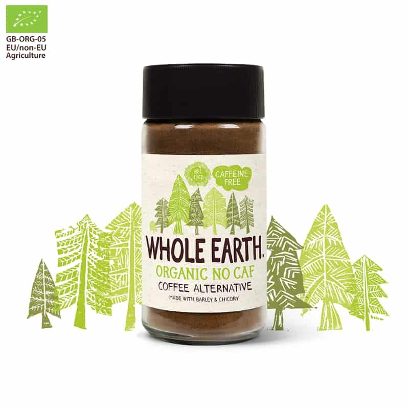 Βιολογικό υποκατάστατο καφέ χωρίς καφεΐνη 100g, Whole Earth