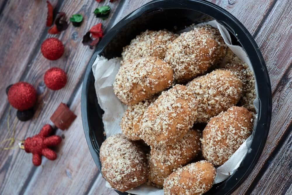 Μελομακάρονα με αλεύρι ζέας και σιμιγδάλι από ρύζι ή φαγόπυρο