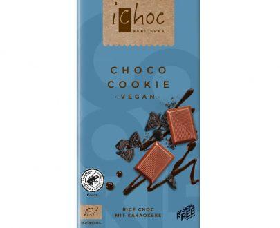 Βιολογική σοκολάτα Choco Cookie 80g, iChoc