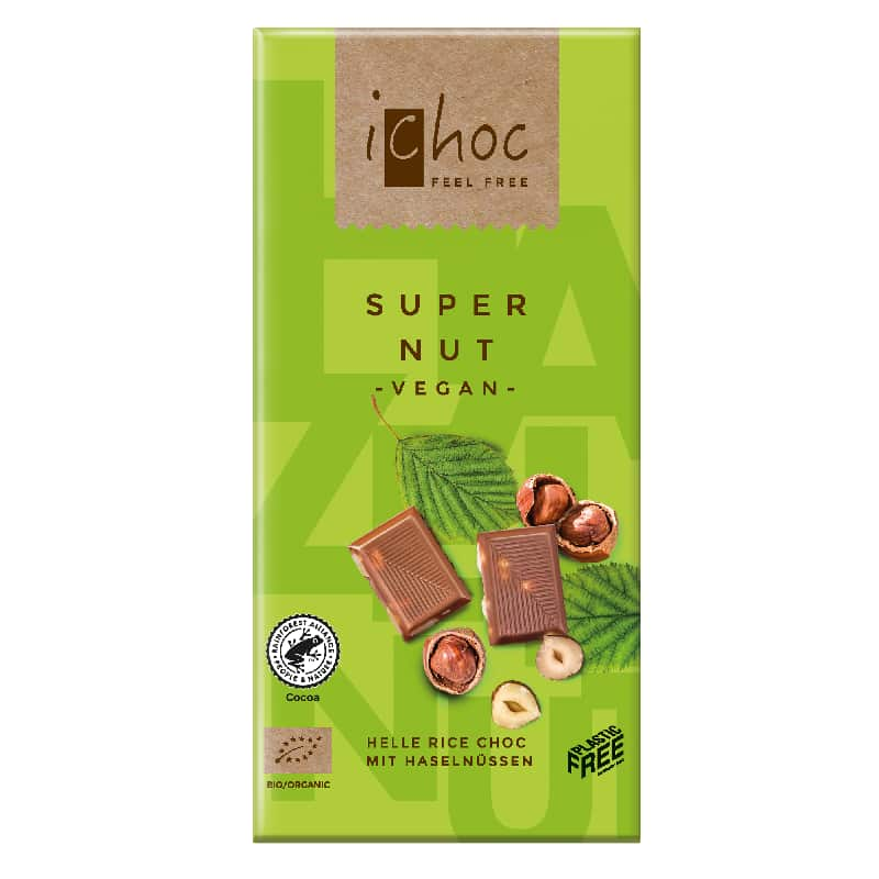 Βιολογική σοκολάτα Super Nut 80g, iChoc