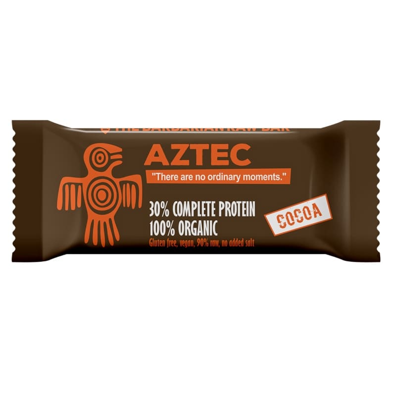 Βιολογική raw μπάρα πρωτεΐνης Aztec κακάο 50g, Leya