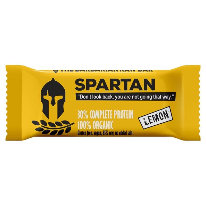 Βιολογική raw μπάρα πρωτεΐνης Spartan λεμόνι 50g, Leya