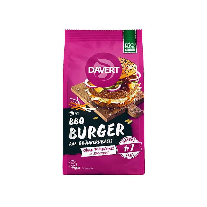 Βιολογικό μείγμα για BBQ Burger 160g, Davert