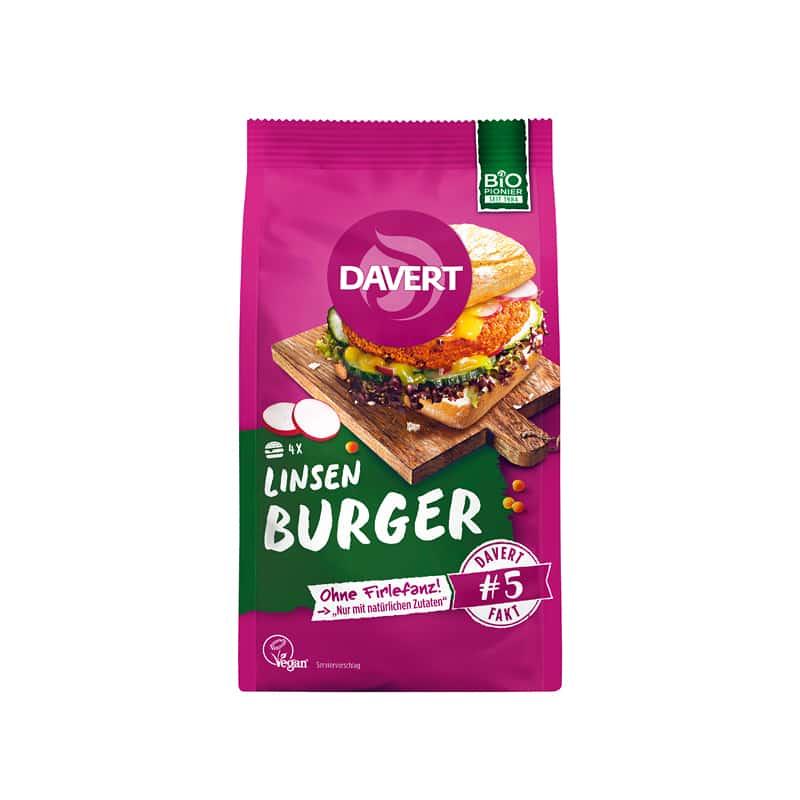 Βιολογικό μείγμα για Lentil Burger 160g, Davert