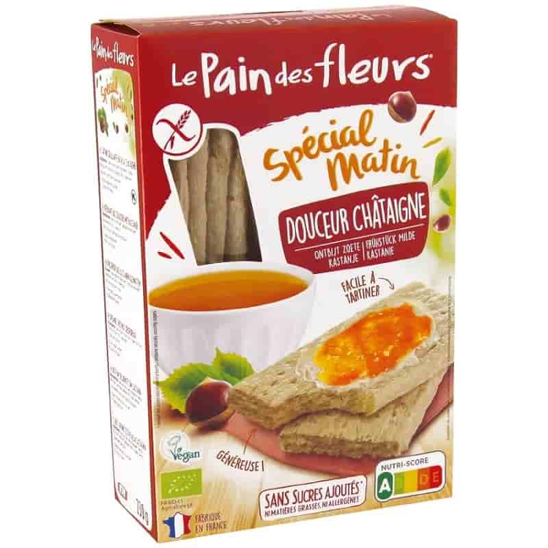Βιολογικά κράκερς κάστανου για πρωινό 230g, Le Pain des fleurs