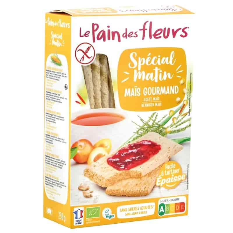 Βιολογικά κράκερς καλαμποκιού για πρωινό 230g, Le Pain des fleurs