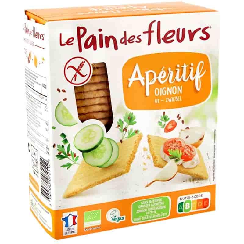 Βιολογικά κράκερς καλαμποκιού με κρεμμύδι 150g, Le Pain des fleurs