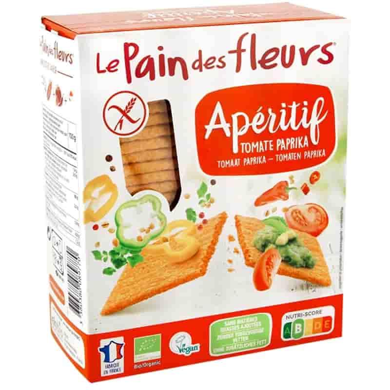Βιολογικά κράκερς καλαμποκιού με τομάτα και πάπρικα 150g, Le Pain des fleurs