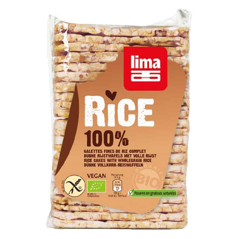 Βιολογικές λεπτές ρυζογκοφρέτες με αλάτι 130g, lima