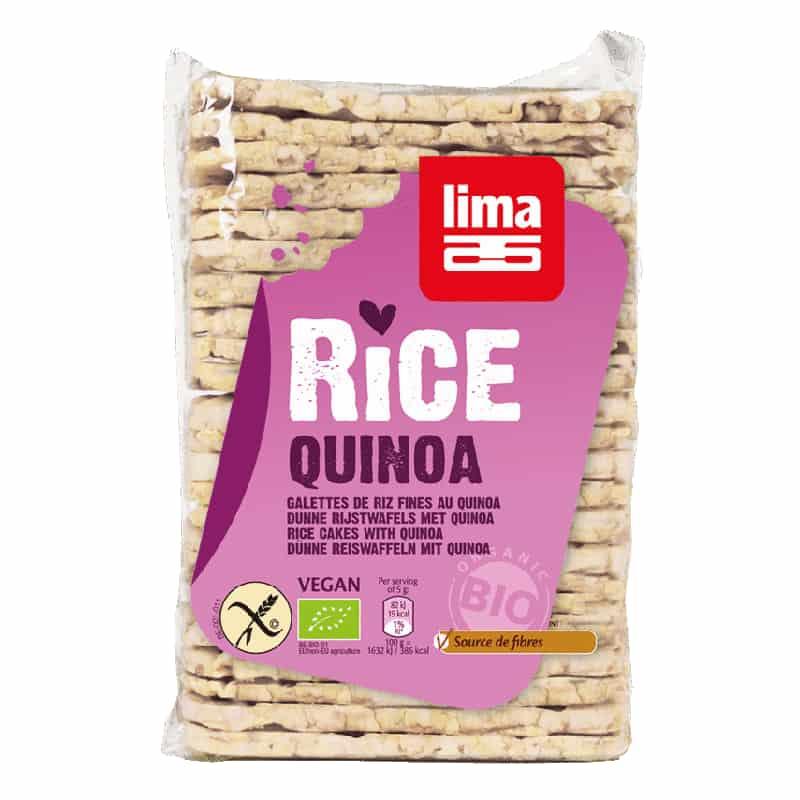Βιολογικές λεπτές ρυζογκοφρέτες με κινόα 130g, lima